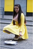yellow Choies dress - off white Yves Saint Laurent heels