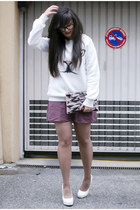 Sheinside sweater - BRIANNEFAYE bag - H&M skirt
