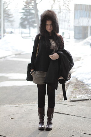 Zara sweater - Burberry jacket - Chanel bag - Miss Sixty shorts