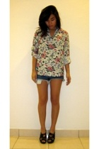 vintage shirt - Ksubi shorts - Aldo shoes