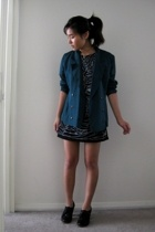 dress - vintage blazer - Urban Outfitters shoes