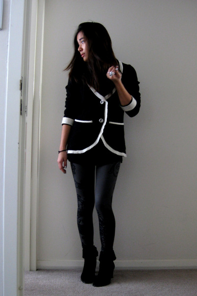 Zara blazer - random top - f21 leggings - madewell boots