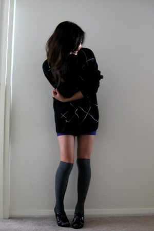 Calvin Klein Mens sweater - random skirt - Sportsgirl socks - Aldo shoes