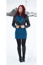 Black-ebay-boots-black-suzy-shier-jacket-blue-sirens-sweater