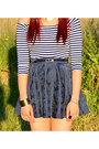 Black-call-it-spring-boots-gold-ebay-necklace-navy-homemade-skirt