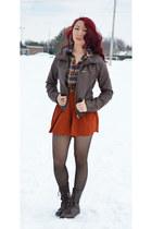 light brown Sirens blouse - dark brown Urban Planet jacket