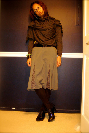 sweater - Mossimo skirt - payless shoes - Zara belt