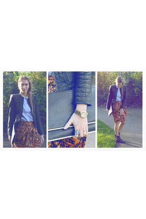 printed Zara skirt - denim H&M Trend blouse