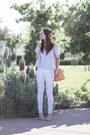 White-moto-hudson-jeans-sky-blue-h-m-top