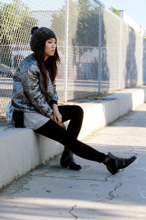 silver H&M Isabel Marant jacket