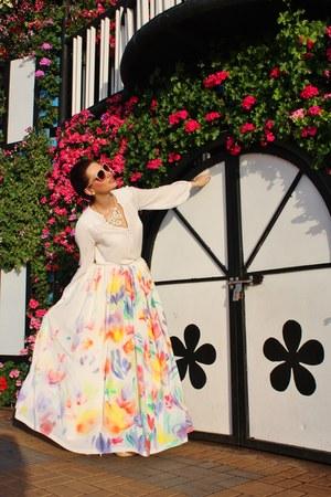 Narsahsist skirt - Zara blouse