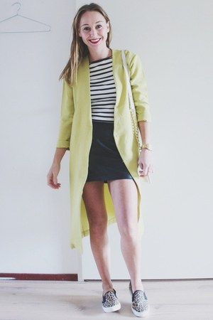 light yellow duster coat Sheinside blazer - quilted Forever 21 bag