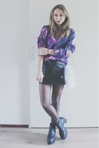black platform Monki boots - light purple galaxy print Breaking Rocks sweater