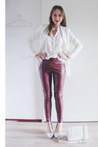 white basic H&M blazer - white quilted Forever 21 bag