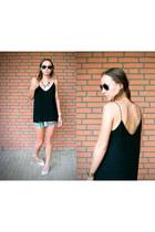 low back Zara top - aztec print Bershka skirt - SuperTrash heels