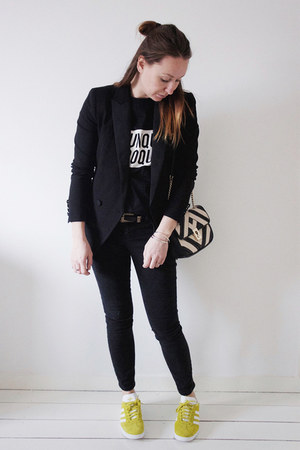 black petite skinny asos jeans - black classic H&M blazer