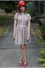 Red-pink-duchess-shoes-squiggle-taxi-cdc-dress-red-cloche-stripes-hat