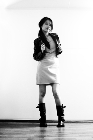 Maiden dress - hand me down jacket - payless boots