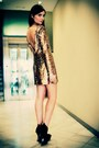 Gold-disco-pony-dress-black-asos-wedges-carrot-orange-glamrocks-ring