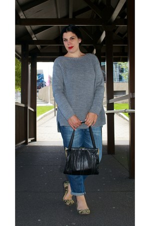 Republic jeans - vintage bag - new look jumper - Primark flats