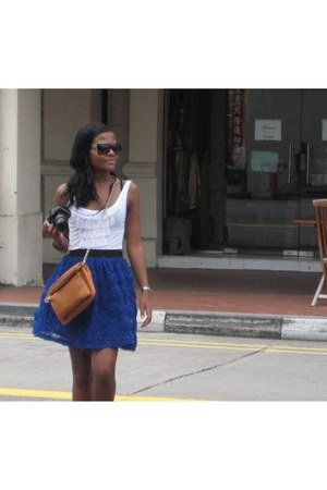 black aviator Gucci sunglasses - blue Atmosphere skirt