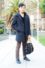H&M jacket - krew pants - SR shoes - Silk Road China purse