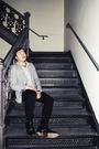 H&M blazer - Built by Wendy shirt - Cheap Monday pants - Polo shoes