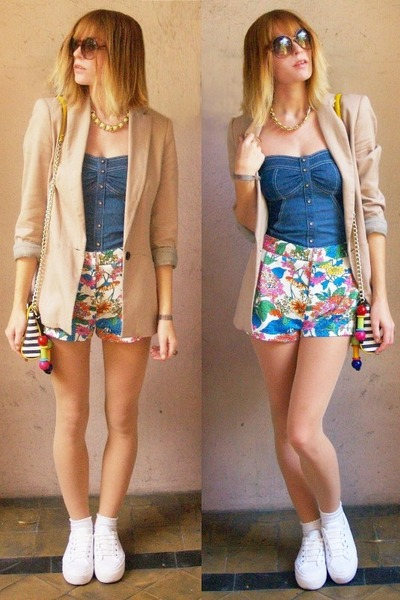 blazer - shorts - bodysuit