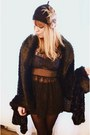 Black-lace-dress-black-faux-fur-cardigan