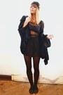 Black-lace-dress-black-faux-fur-cardigan