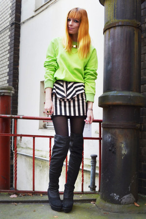 chartreuse sweater