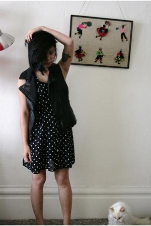 forever 21 forever21 vest - vintage from thrift store dress