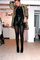 Topshop jacket - GINA TRICOT shirt - American Apparel top - vintage shorts - Sne