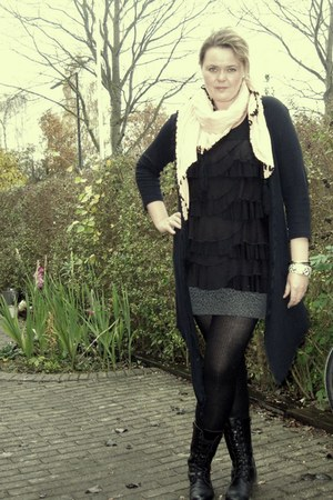By Malene Birger scarf - H&M top - Chanel bracelet - Miss Selfridge skirt