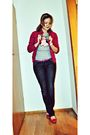 Pink-esprit-blazer-blue-guess-jeans-pink-fratelli-rossetti-shoes-silver-un