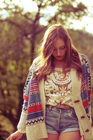 tawny romwe romwe cardigan - lace Choies blouse