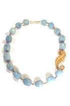 blue seahorse Manic Trout necklace