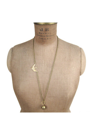 bird chain Manic Trout necklace