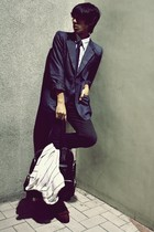 navy DKNY blazer - black Cheap Monday jeans - dark gray Y-3 bag - dark brown flo