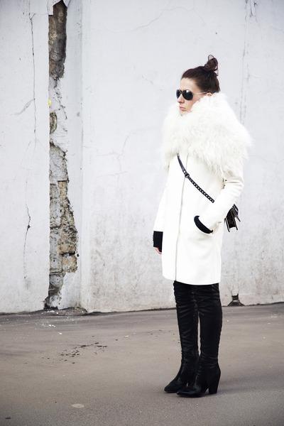 black boots - off white Concept  club coat
