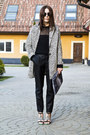 White-reserved-coat-black-secondhand-sweater-diy-bag