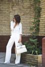 White-incity-shirt-cream-furla-bag-white-mango-pants