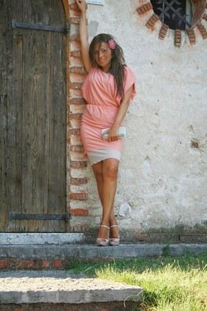 neutral Miu Miu shoes - peach Pinko dress