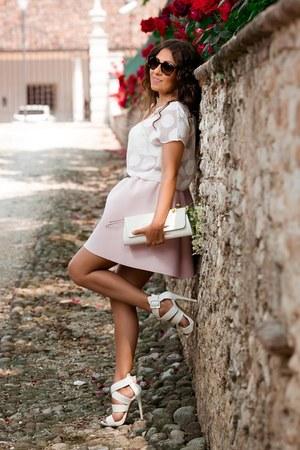 white Prima Donna shoes - white Stella Z bag - neutral By Alis skirt
