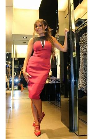 red Mangano shoes - red Mangano dress