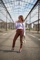 Federica Stella shoes - unconventional secrets shirt - Pinko bag