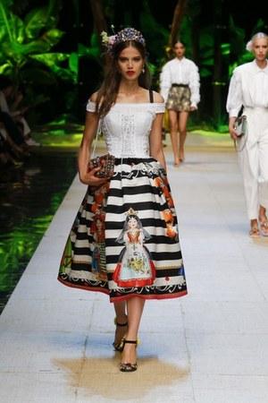 black Dolce & Gabbana dress - white Dolce & Gabbana shirt