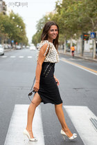 white Elisabetta Franchi shoes - black Elisabetta Franchi bag