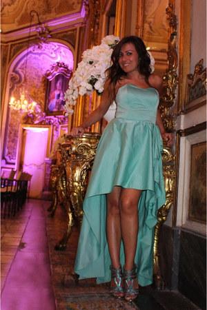 aquamarine Via Maestra shoes - aquamarine unconventional secrets dress