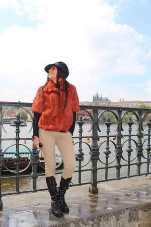 black Dolce & Gabbana shoes - burnt orange Cenere jacket